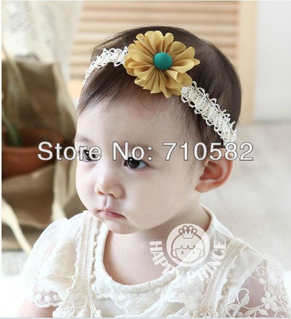 Newly designed 10pcs /lot Free Shipping Infant Baby Toddler sun flowers for headbands headwear children headband(China (Mainland))