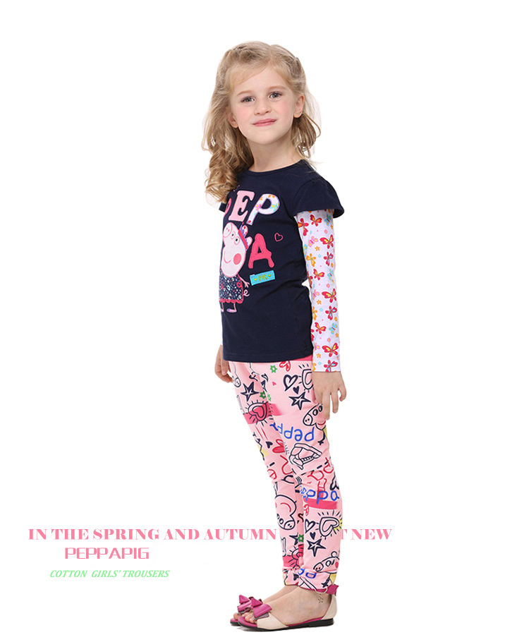 Nova 2015pants kids wear baby girls autumn/spring pants fashion lovely long legging print - Happy Childhoods store