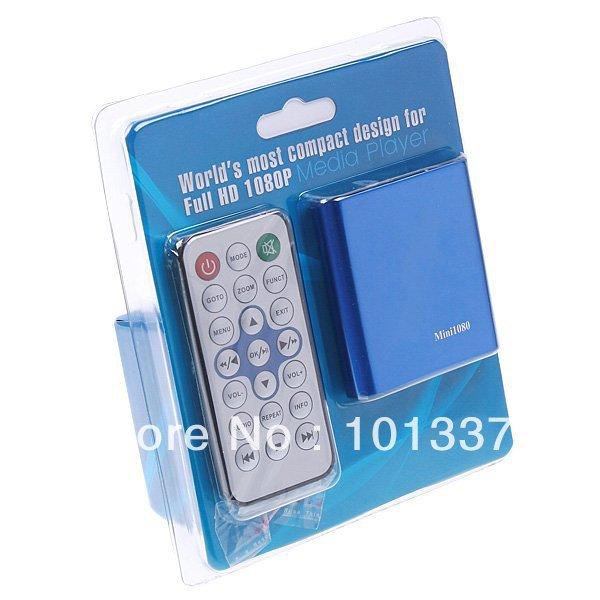 Free shipping!Mini1080p MINI Full HD 1080P HDMI HDD multi Media player With SD MMC support MKV DVD MPEG Player AV/HDMI output(Hong Kong)