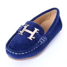 ילדים של נעלי עור בני 2019 יוקרה באיכות גבוהה אור ילדי אופנה נסיכת נעלי בנות נעליים יומיומיות ילדים נעלי(China)