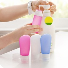 New 3 Pcs/Set Travel Silicone Bottle Skin Care Shower Gel Lotion Squeeze Bottles Tube Shampoo Containers Squeeze Kit Free Ship (China (Mainland))