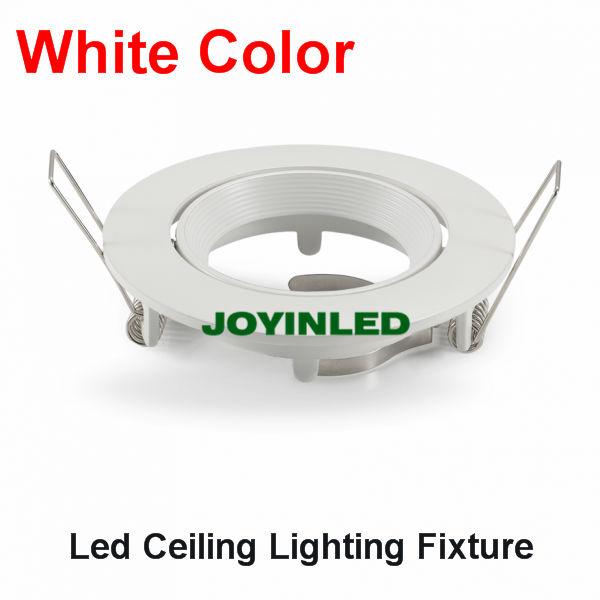 Gu10 Led Ceiling Light Fixture: White Ceiling Lamp Holder GU10/MR16 LED Spot Light Fixture