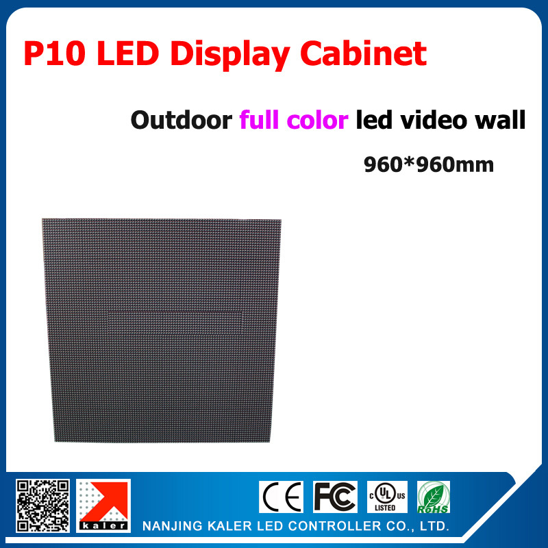 Outdoor P10 full color led display cabinet 960*960mm for TV station ,stage ,ceiling led video wall 1/4 scan led screen board(China (Mainland))