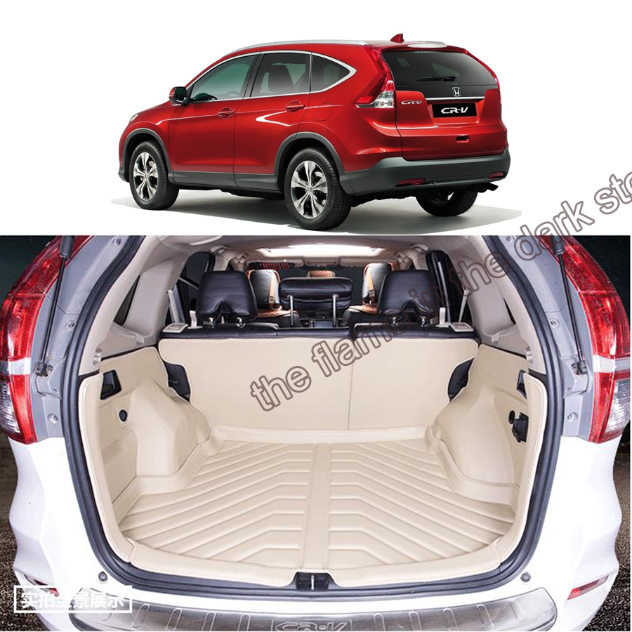 free shipping 5d full cover fiber leather waterproof car trunk mat for honda cr-v 2012-2017 4th generation<br><br>Aliexpress