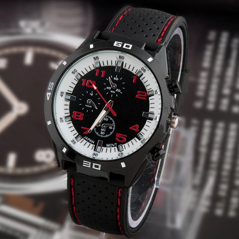 2015 новый свободного покроя кварцевые часы мужчины военный часы наручные спорт прямая поставка силиконовый часы мода часов