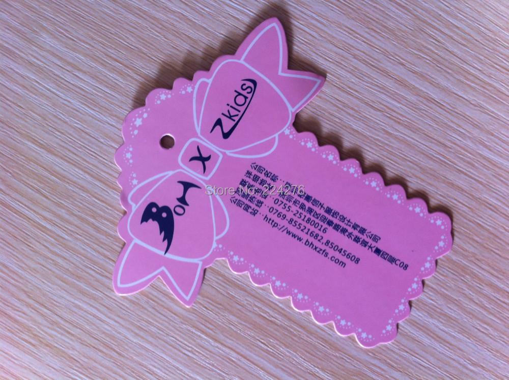 MOQ 200pcs OEM swing tag for clothing full color custom clothes hang tag(China (Mainland))
