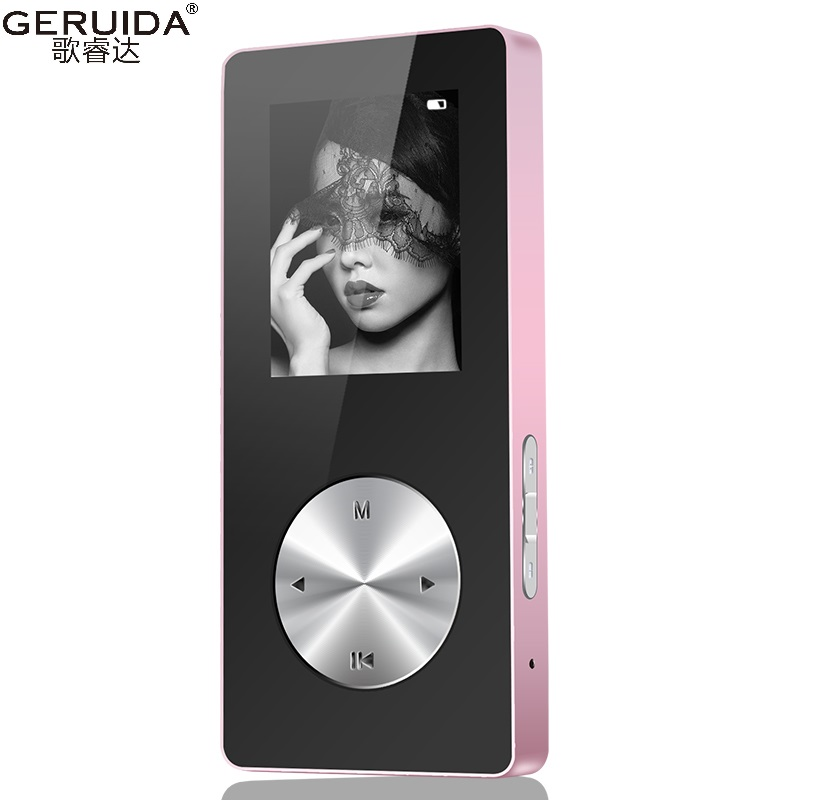 GERUIDA NEW MP3 MP4 Portable Video Player 4GB/8GB/16GB With Voice Recorder Lounspeaker Support TF Video FM Watch Game Armband(China (Mainland))
