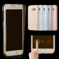 S7/Edge Transparent Full Coverage Case For Samsung Galaxy S7 Edge G9350 /S7 Front Touch Screen + Clear Soft TPU Cover 360 Degree