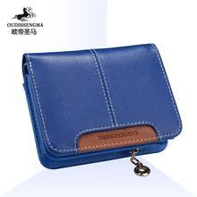 2015 Female Medium Long Cowhide Zipper Student Clutch Card Holder Brand Wallet Coin Purse Organizer Carteir