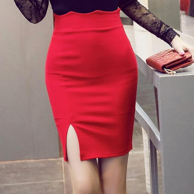 Юбка Черно Красная