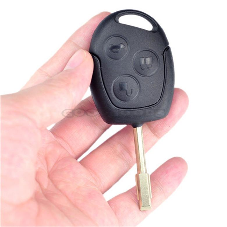 New 3 Buttons Blade Uncut Remote Car Key Shell Case Fob Covers for Ford Focus Mondeo Festiva Fusion Suit Free Shipping(China (Mainland))