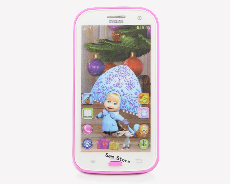 EnglishTalking Masha and Bear toys Baby Mobile Phone doll Electronic Classic Musical Interactive Toys for kid's smart phone(China (Mainland))