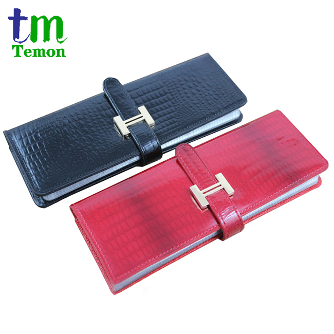 TEMON genuine leather name card holder business card book card case large capacity 80pcs pvc name card places CNM007(China (Mainland))