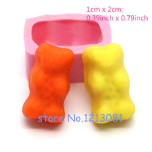 KYL027 1Pc Kawaii Gummy Gummi Bears Silicone Rubber Flexible Food Safe Mold Mould- resin, fondant, candy, chocolate(China (Mainland))