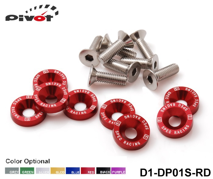 Pivot - D1 Spec 8 Pcs M6 x 20 Headlights Bumpers Fender Washers Kit Bolt Screw Engine Red Color Fit For HONDA D1-DP01S-RD(China (Mainland))
