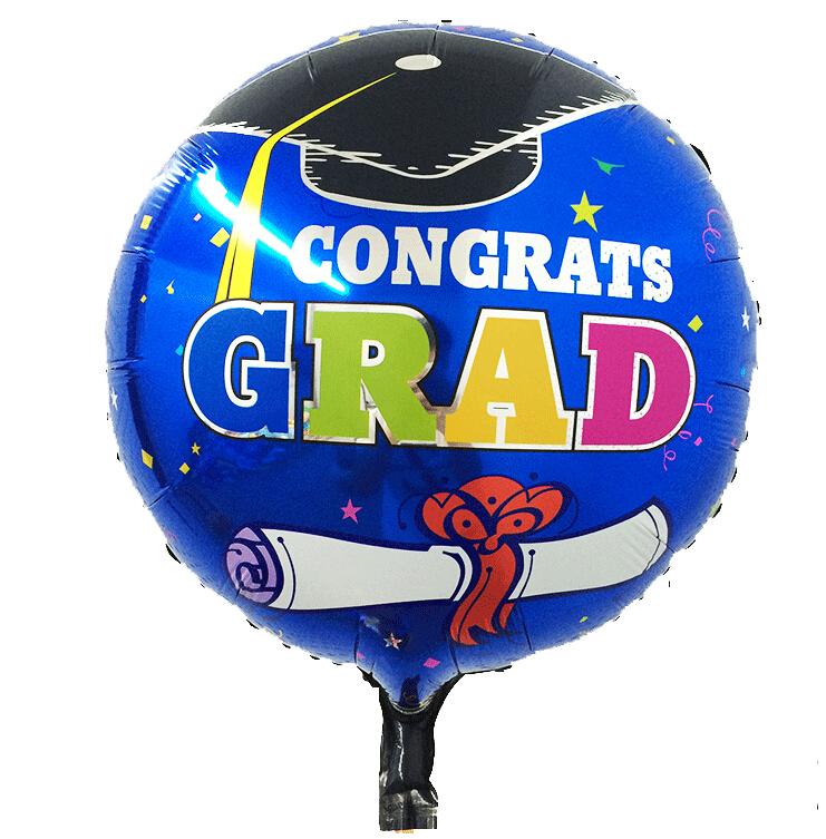 Congrats grad foil balloon best quality school graduation ceremony supplies ballons graduation present foil balloon(China (Mainland))