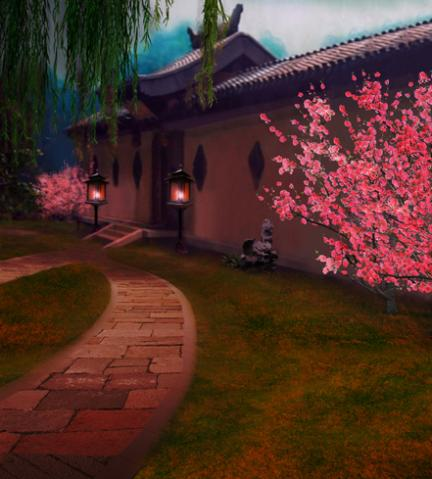 300 200cm 10ft 6 5ft Chinese ancient courtyard willow peach photography backdrops font b studio b