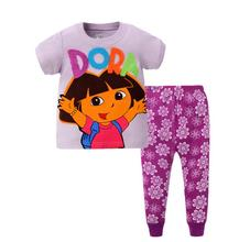 Kids Minnie Mouse Pyjamas Set Summer Dora Daisy Duck Short Sleeve Piyamas for Boys and Girls Kids Children Simpson Pajamas Set