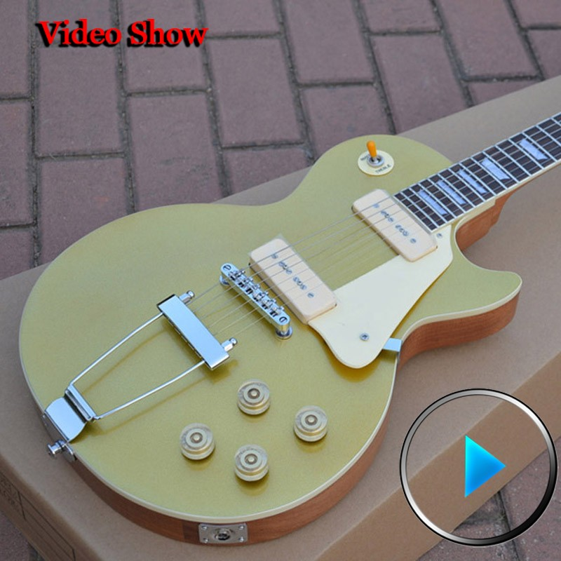 Custom Shop 1956 standard Gold Top P-90 pickups guitars  high quality musical instruments guitarras free shipping<br><br>Aliexpress