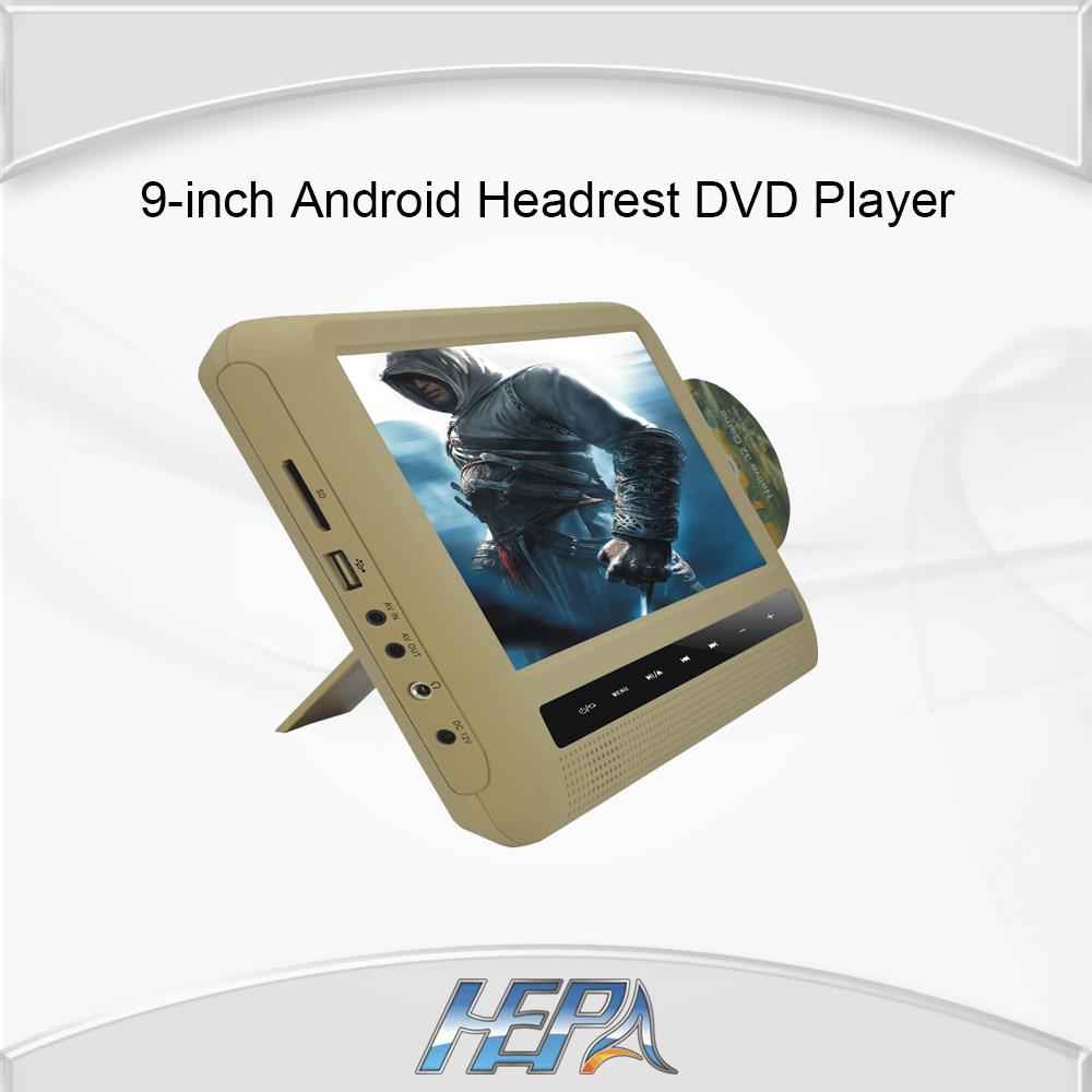 HEPA 9-inch digital TFT LED screen Android Headrest DVD Player Tablet PC Car Home Use with Wifi 3G HDMI FM(China (Mainland))