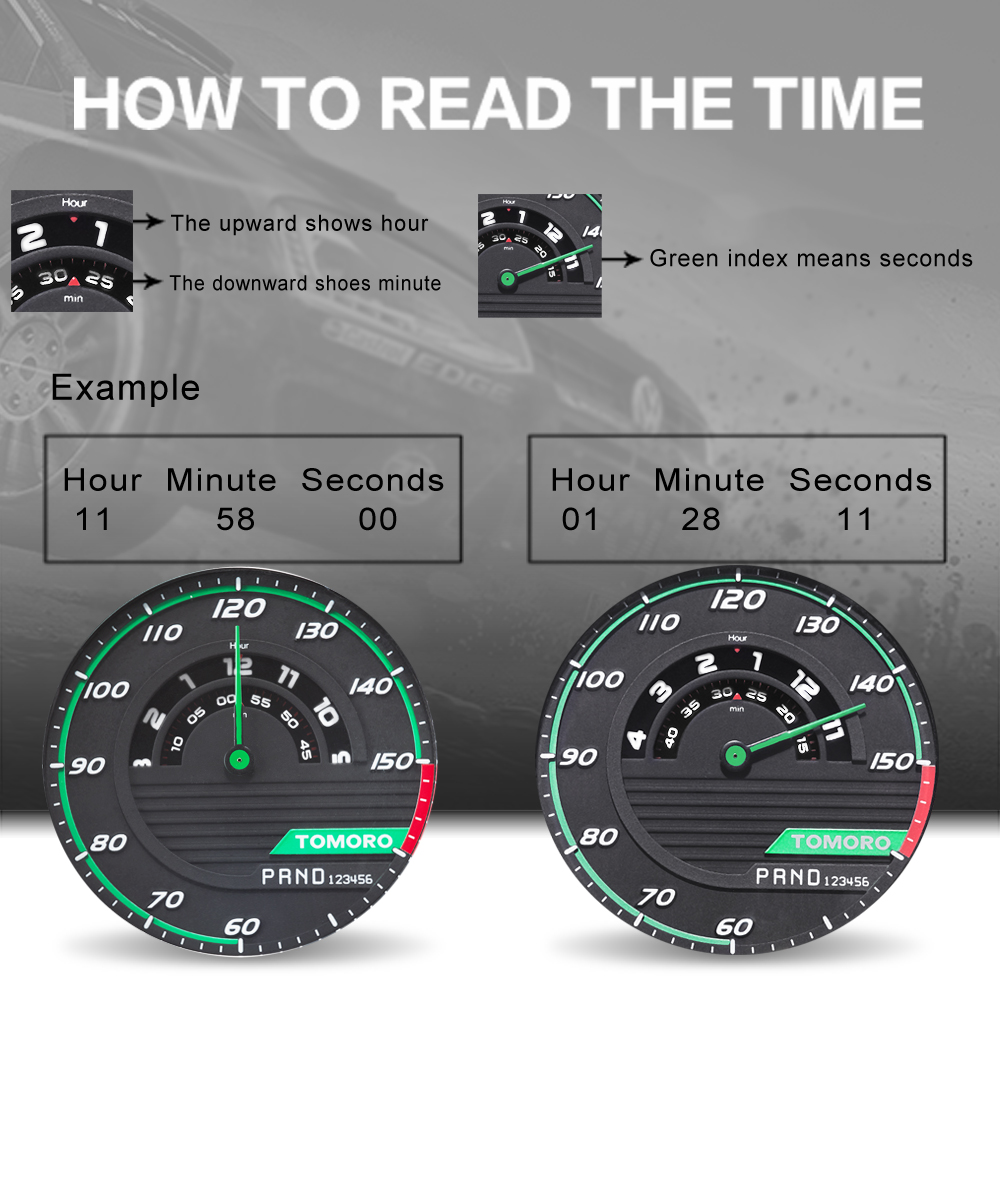 TMR1017 How to read the time