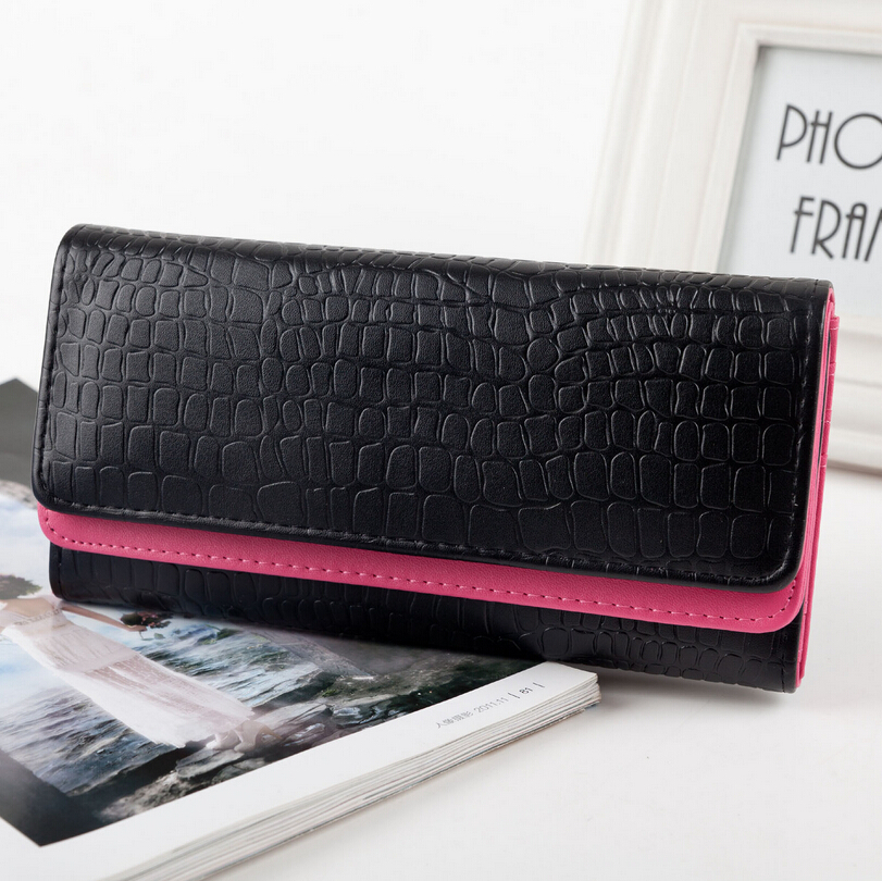 Woman Wallet Zipper Long Purse PU Leather Metal Women Coin Wallet Phone Wallets Ladies Clutch Purse Portfolio Female Bag Purses(China (Mainland))