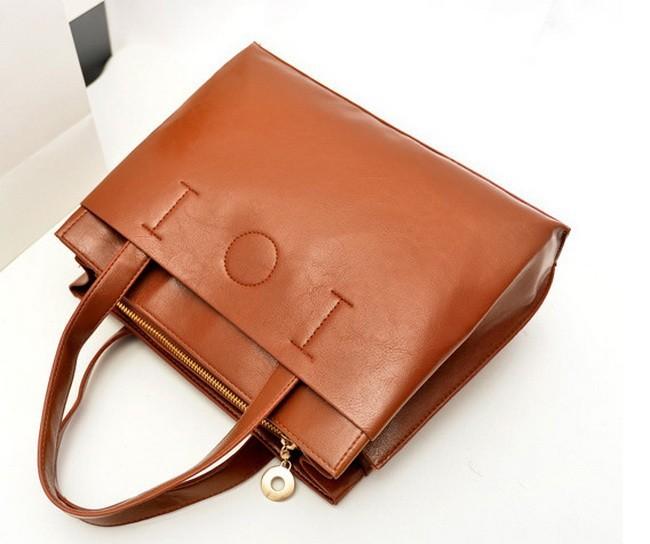 Fashion 2015 Women's Shoulder Bag Soft Leather Handbag Solid Causal To