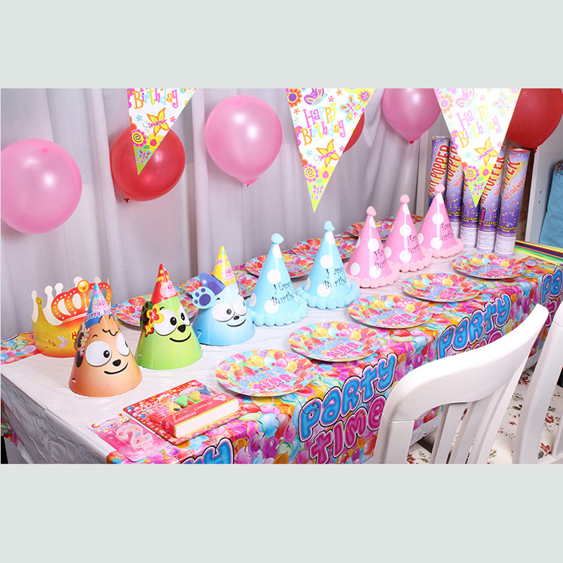 Disposable table cloth Cartoon happy birthday party table cover princess crown table cloth Event & Party supplies(China (Mainland))