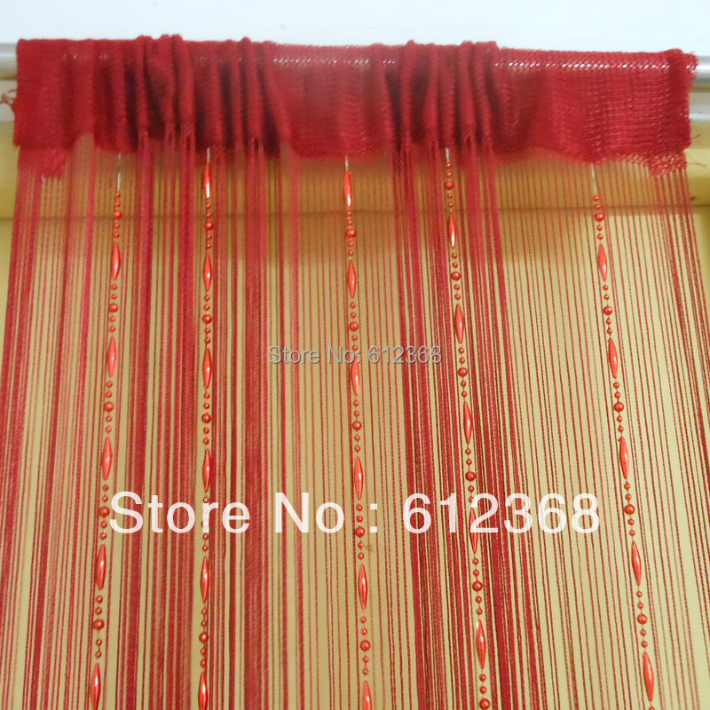 6 Colors New Dew Drop Beaded Fly Insect Panel Room Divider Hanging String Door Curtain Strip