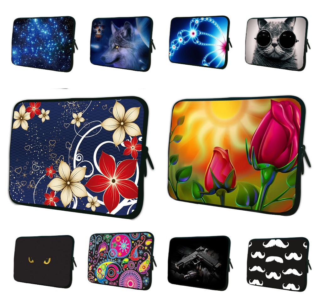 Stylish Neoprene Laptop Bag Tablet Notebook Sleeve Case 7 10 12 13 14.1 15 17 inch Netbook Protector Cover For Macbook Air / Pro(China (Mainland))