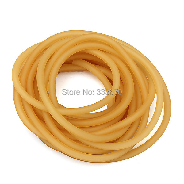 Free Shipping 5 M Natural Latex Tubing Rubber Band 3x5mm Resilient Tube For Slingshot Catapult Stretch Elastic Part 3050(China (Mainland))