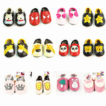 New Animal Baby Shoes Crown princess Bow Genuine Leather Baby Moccasins Cartoon First Walker Bebe newborn shoes Free shipping(China (Mainland))