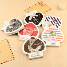Buy Lovely Bow Love N Stick Memo Pad Message Sticker Noted Cute Sticker Bookmarks Diary Decoration Stickers Diary for $1.38 in AliExpress store