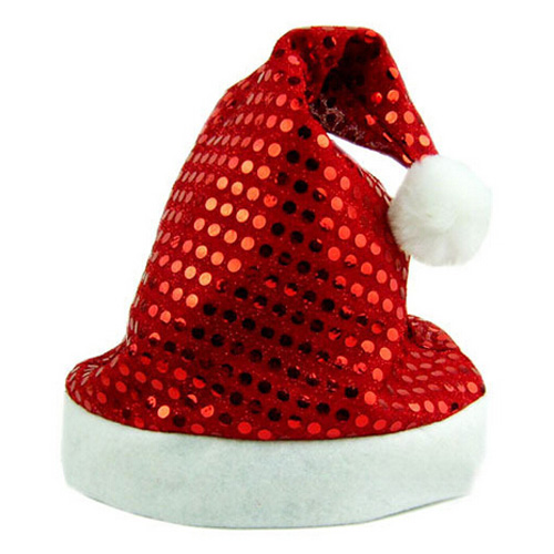 5pcs/lot Deluxe Sequin Santa Hat Outfit Accessory for Christmas Nativity Fancy Dress(China (Mainland))