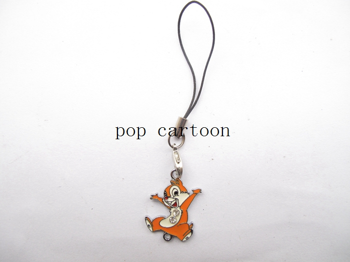 New 20 Pcs Carttoon Squirrel Phone Mobile Phone Lobster Clasp Lanyard Enamel Charms Metal DIY Jewelry Making Gift D-76(China (Mainland))
