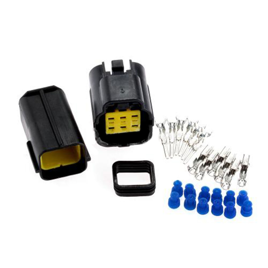 Top Quality 1 Kit 6 Pin Way Waterproof Wire Connector Plug Car Auto Sealed Electrical Set