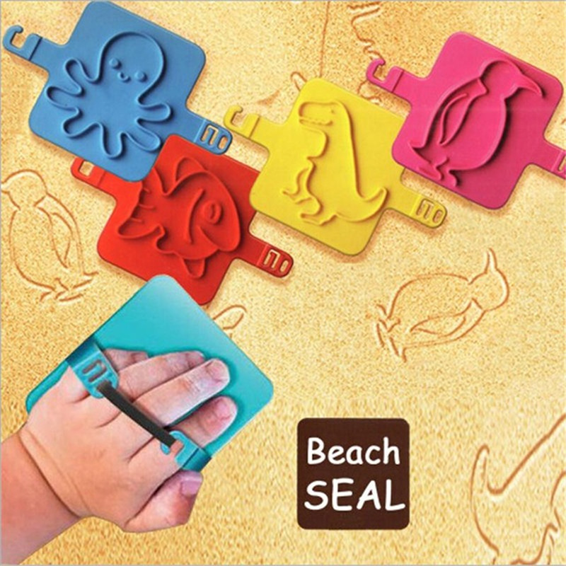 Baby Toy Kids Toy Sea Beach Seal Stamper Educational Toy Early Development Interactive Game Gift Educational Sand Playing Tools(China (Mainland))