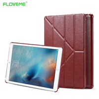 For iPad Air Case Luxury Retro Folding Stand Magnetic Flip Leather Case For iPad Air ( For iPad 5) Smart Sleep and Wake Cover