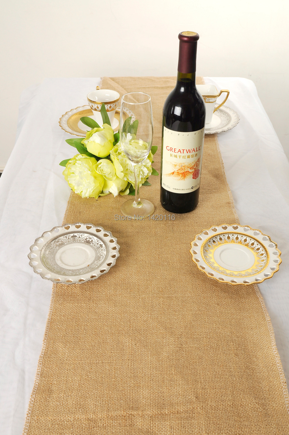 Burlap Table Vintage table  Runner vintage  Jute Wedding Hessian wedding Hemp Natural runner Rustic