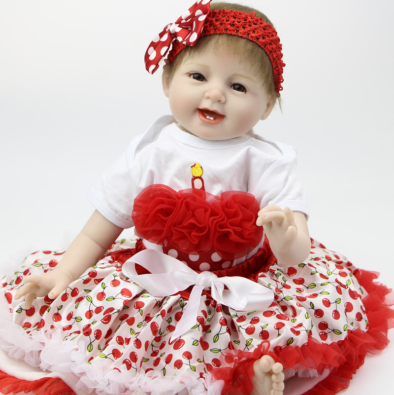 22 inch Soft Like Silicone Reborn Baby Doll Realistic Newborn Toy Handmade Baby Alive Doll Lifelike Princess For Girls Gift