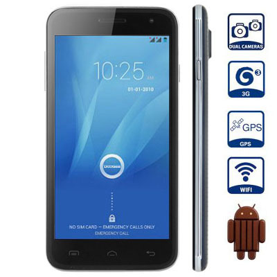 Original DOOGEE VOYAGER2 DG310 Smart Phone Android 4.4.2 MTK6582 Quad Core 1.3GHz 5.0inch 5.0MP Camera 1GB+8GB 3G GPS Cell Phone(China (Mainland))