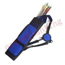 archery quiver bag hunting bow arrow quiver blue arrow case to set compound bow or recurve