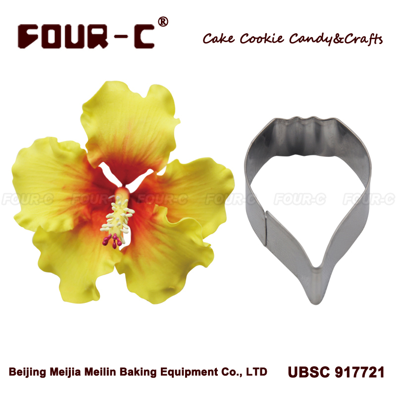 Hibiscus petal flower cutter, cake decorating tools, fondant mold/tools/cutter,cupcake mold baking cookie cutter(China (Mainland))