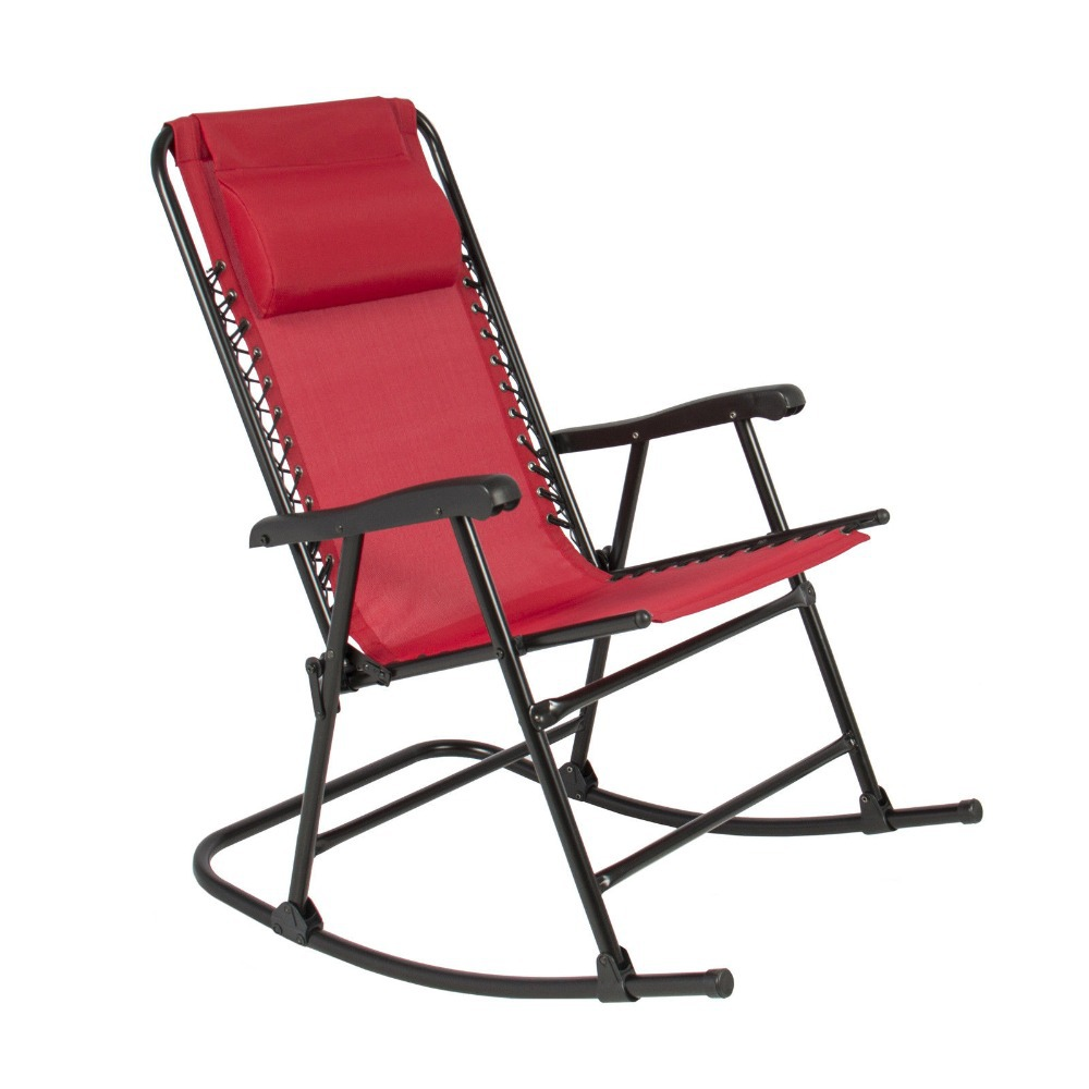 Red Folding Rocking Chair F-J Foldable Rocker Outdoor Patio Furniture FGH364(China (Mainland))