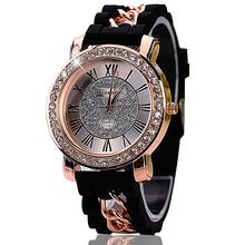 2016 Silicone Watch Fashion Women Luxury Dress Watches Summer Style Bracelet Watch Famous Brand Women Female XR934(China (Mainland))