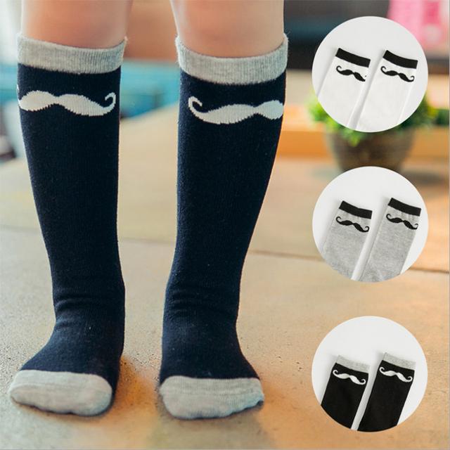 Марка носки мода симпатичные усы черный усами Meias Infantil мальчиков носки дети ...