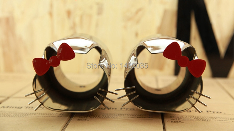 2015 New Universal Hello kitty Exhaust Tailpipe Stainless Steel Ideal Gift(China (Mainland))