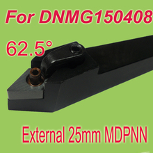 Free Shiping MDPNN 25*25*150 SHK 1'' 62.5 Degree External Turning Lathe Bar Tool Holder DNMG - Sides International limited store