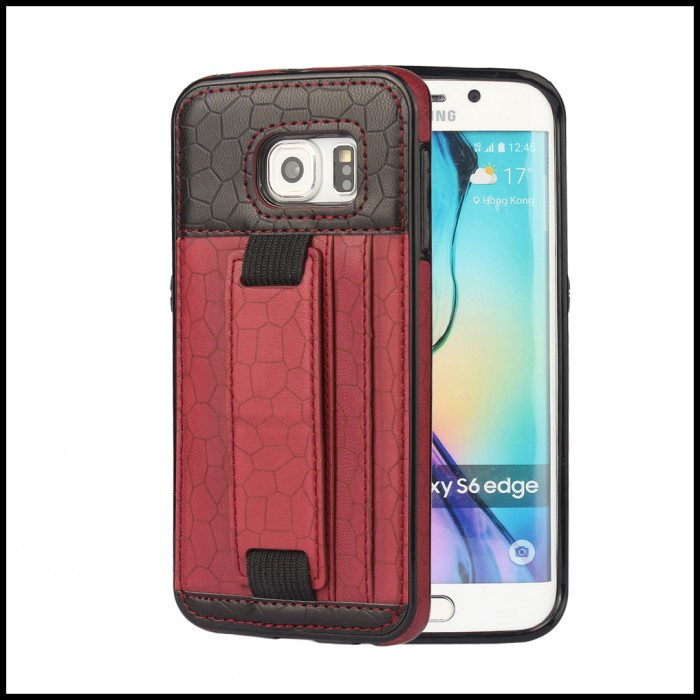 For Samsung Galaxy S6 Edge Cover Case Phone Wallet Protective Mobile Bag Stand Case For Samsung S6 Cases Cover Fundas Coque(China (Mainland))