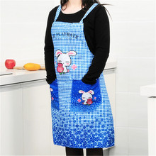 Buy Fu Korean version cartoon cute rabbit apron kitchen apron strap style 77*69.5cm103g H-7 Green apron for $5.09 in AliExpress store